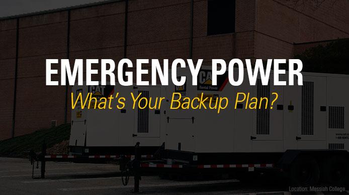 Emergency Power Backup Planning