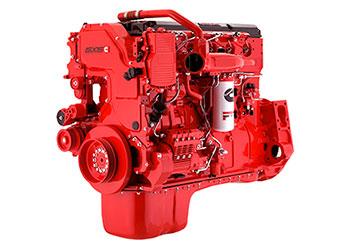 red-cummins-engine