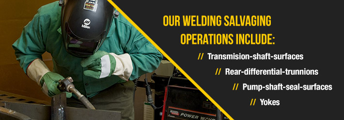 Welding salvaging services