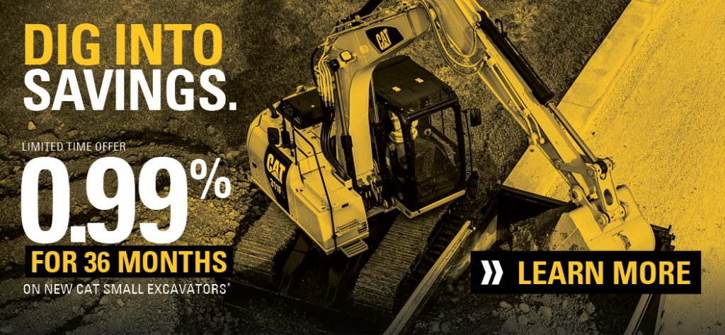 Small Excavator Financing Offer