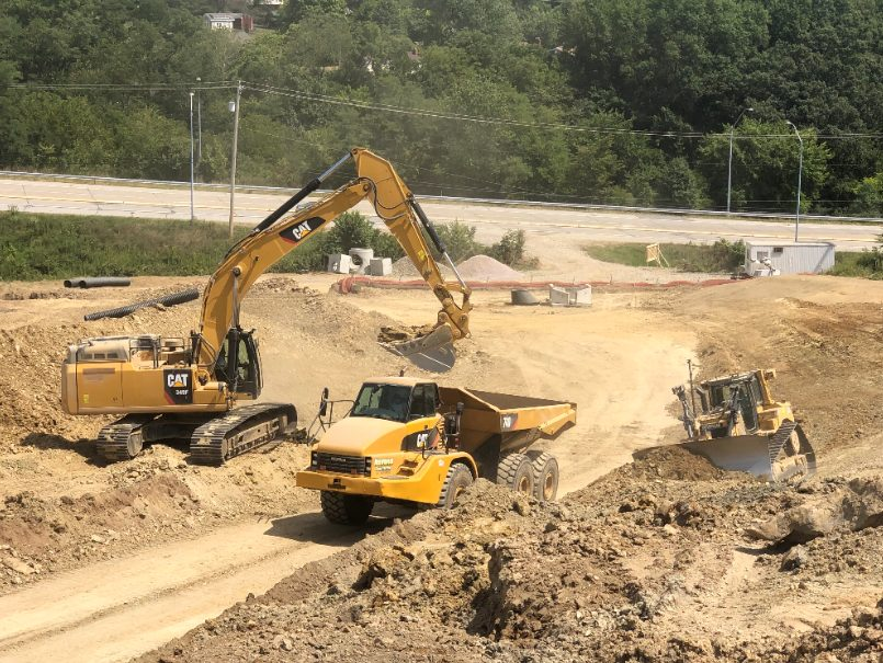 Neiswonger Construction jobsite supported with Cat equipment