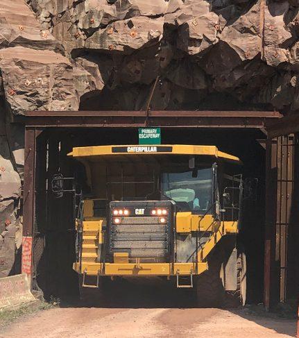 Neiswonger Construction team driving Cat articulated truck
