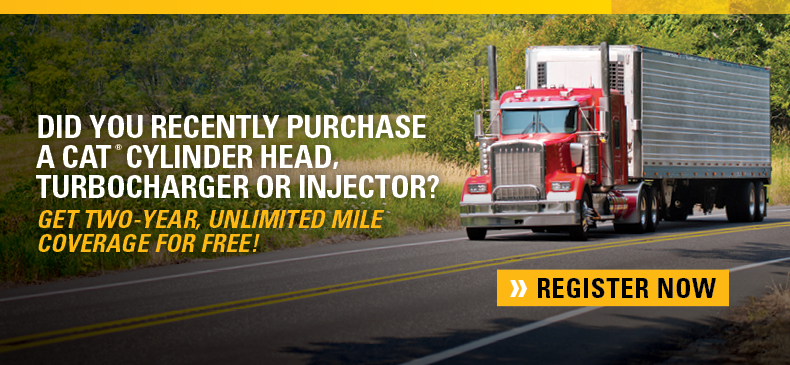 free unlimited mile Extended Service Coverage (ESC) for two years on select Cat parts or upgrade to three- or four-year coverage for an additional charge.