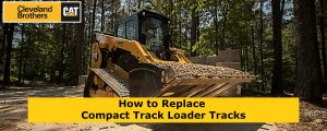Replacing tracks on compact track loader