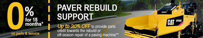 Paver Equipment Rebuild Special Promotion